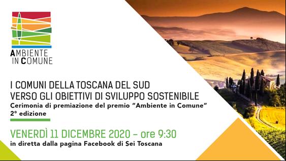 """Seconda edizione di """"Ambiente in Comune"""": domani in diretta Facebook e Youtube la premiazione"""